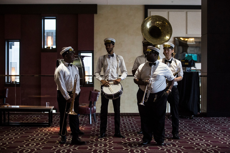 The Knockaz Brass Band performs during the ACC Quality Summit