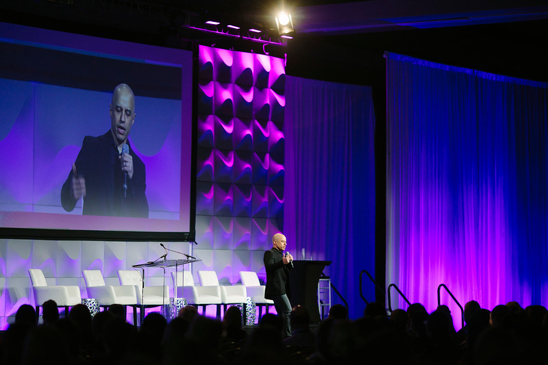 Zubin Damania, aka ZDoggMD, performs during the ACC Quality Summit