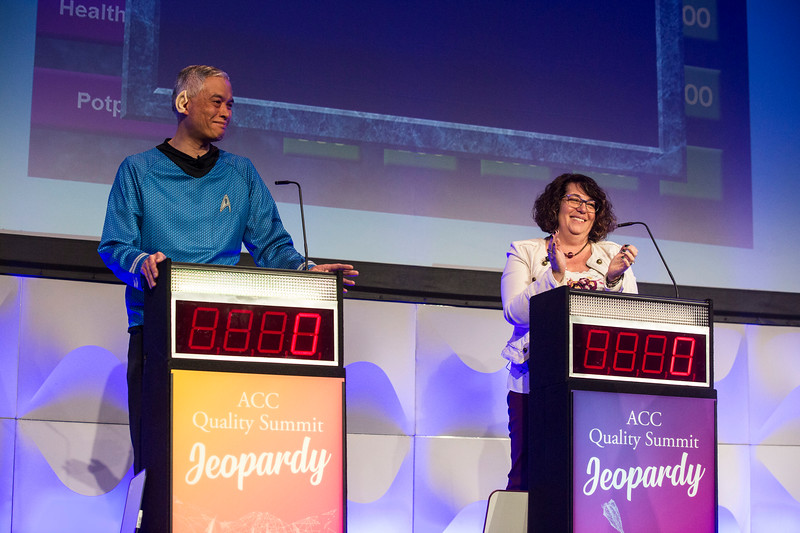 Participants play Jeopardy during the ACC Quality Summit