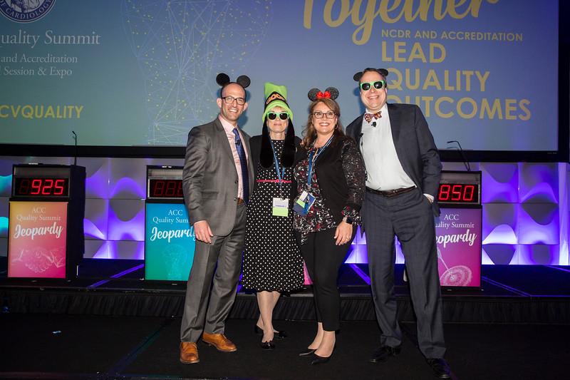 Attendees wear Mickey Mouse ears during the ACC Quality Summit