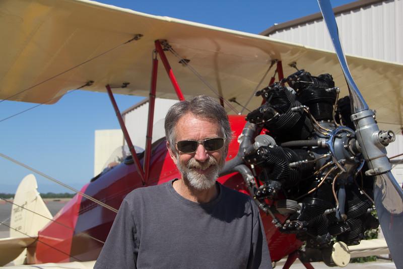 Harold Schooler and His Plane