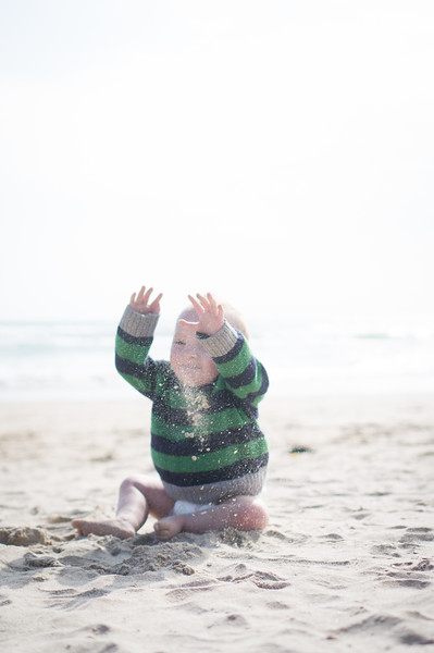 Playing on the beach - June 2015