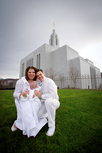 The day we were sealed together in the Draper Temple