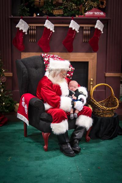 Visiting Santa - Christmas 2014