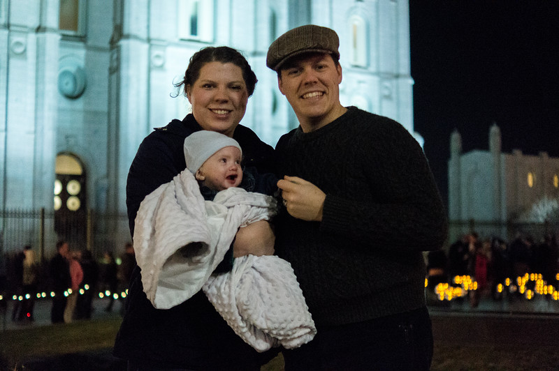 Our Family at Temple Square - December 2014