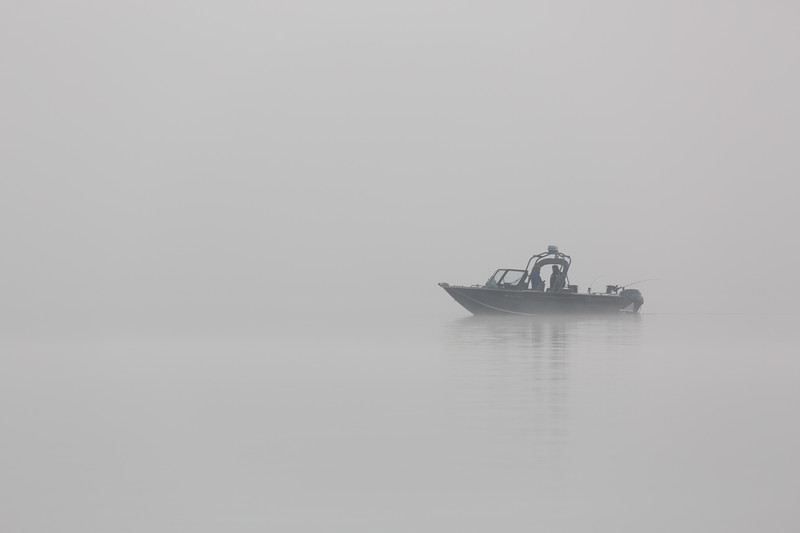 A misty day on Lake Washington.