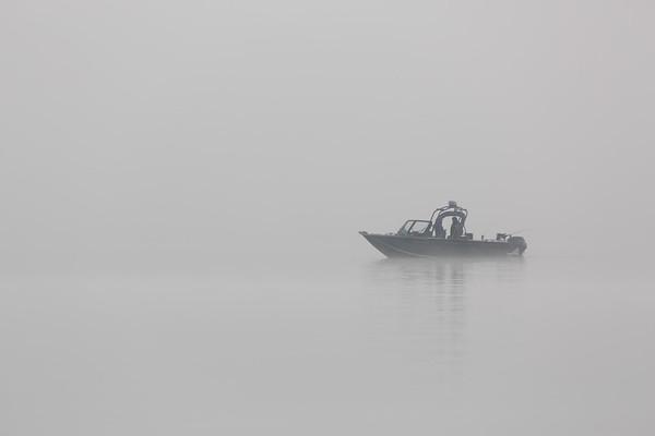 A misty day on Lake Washington.