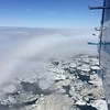 Melting ice seen from plane