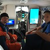 Kevin Wood and Nick Bond sit in NOAA 56
