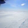 Sea ice melting as seen from plane