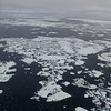 Sea ice remnants as seen from plane