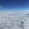 View of sea ice from plane