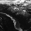 Braided river, Alaska range