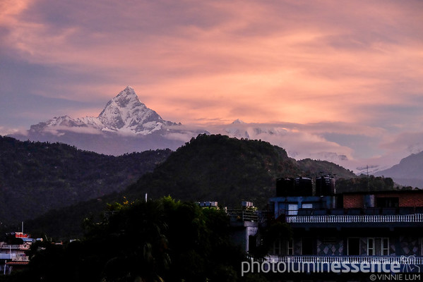 Mountains at dawn, Pokhara