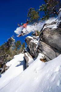 Snowboarding at Bogus Basin near Boise, Idaho