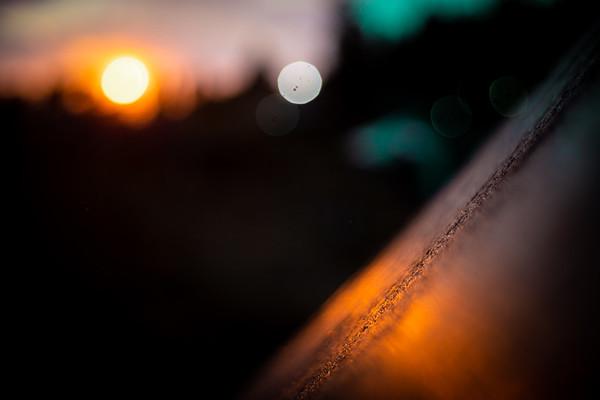Sunset light on the jump