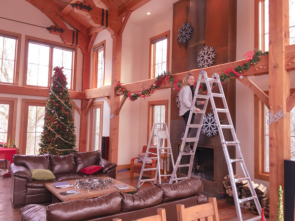 Preparing the Fireplace Decorations