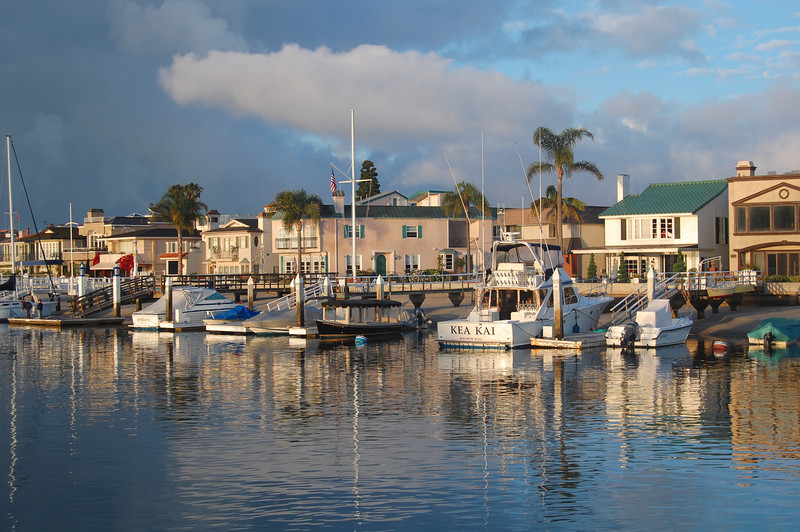 Looking across from Bahia Corinthian Yacht Club in Newport Beach, California. Taken on June 6, 2009 with a Nikon D40 DSLR.