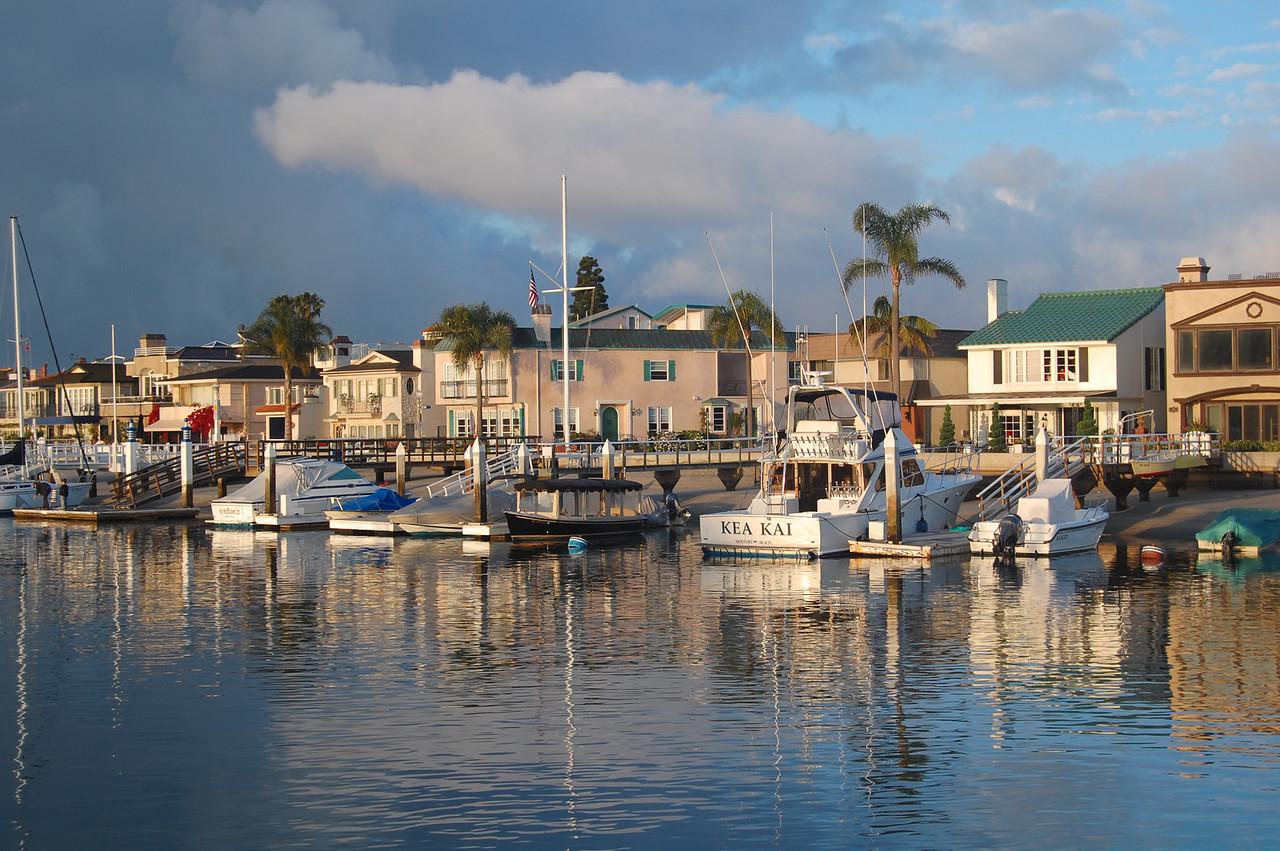 Looking across from Bahia Corinthian Yacht Club in Newport Beach, California. Taken on June 6, 2009 with a Nikon D40 DSLR.