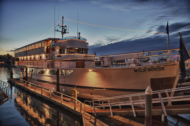 "John Wayne's converted WWII minesweeper ""Wild Goose."" Taken in Newport Beach on Dec. 4, 2010 with a Nikon D700. This is an HDR photo."