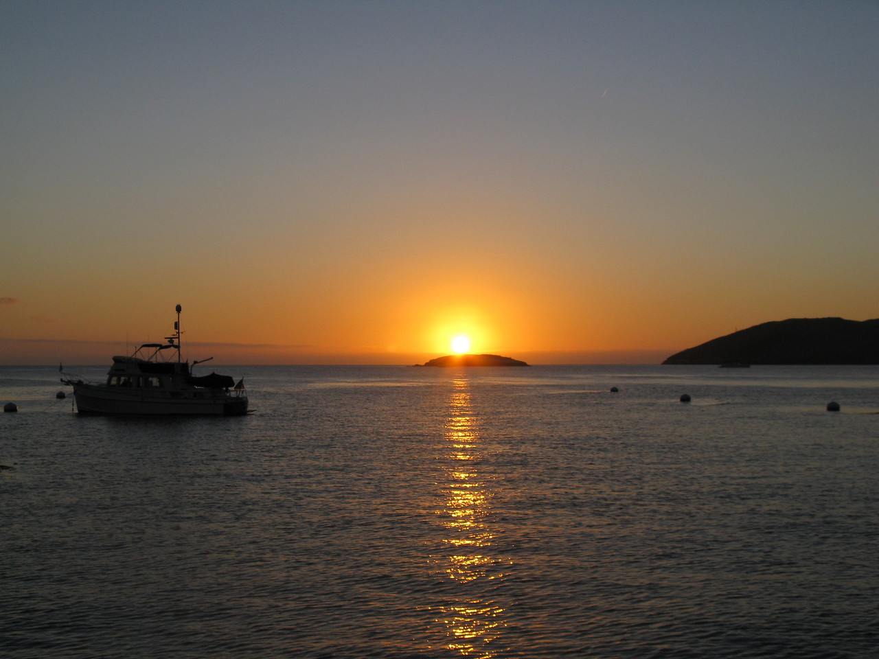Sunrise in Cherry Cove on Catalina Island, California. Taken on Sept. 19, 2009 with a Canon A720IS point and shoot.