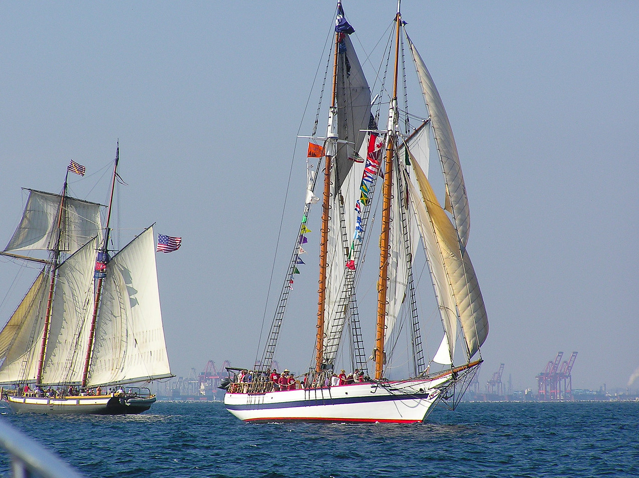 Tall Ships off of Long Beach, California. Taken in 2005.