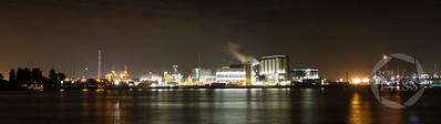 Rotterdam Harbor by Night