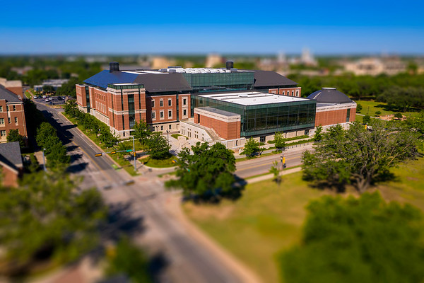 Paul L. Foster Campus for Business and Innovation - Hankamer School of Business - miniature, drone, aerial