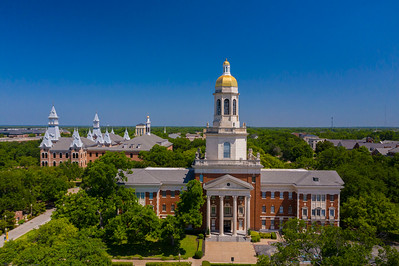 Pat Neff Hall - Old Main - drone, aerial
