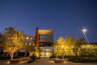 Baylor Research and Innovation Collaborative - BRIC - sunset, night