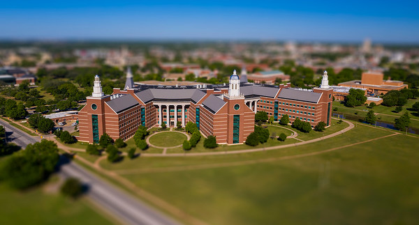 Baylor Sciences Building - BSB - miniature, drone, aerial