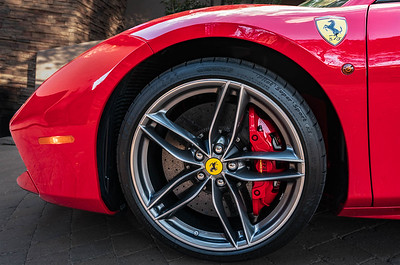 Ferrari Red Brake Calipers