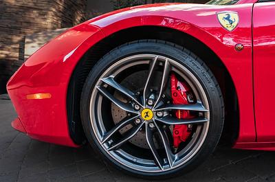 Ferrari Red Brake Calipers