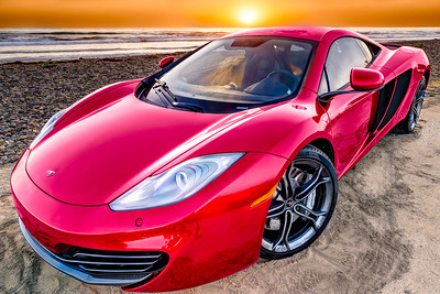 McLaren MP4-12C at Sunset