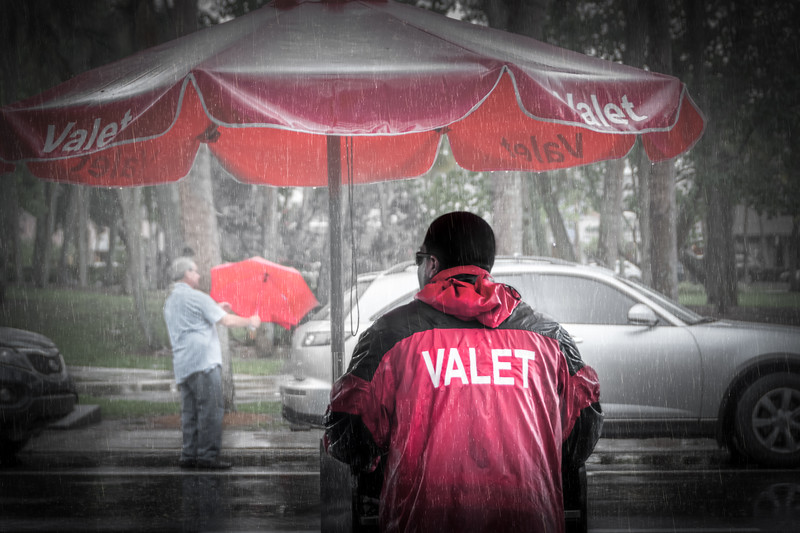 Seeing Red in the Rain