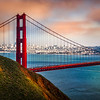 Vista of the Golden Gate Bridgeand San Francisco  Marin Headlands, CA USA