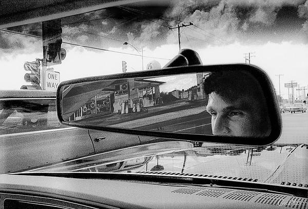 Bruce Driving, Stylized B&W