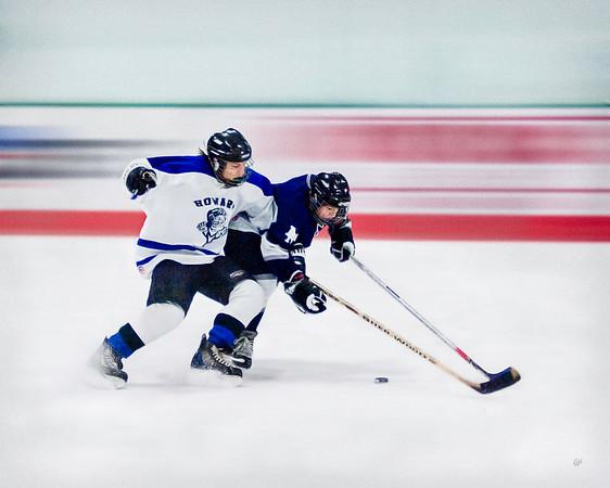 Men's High School Club Hockey #3, Stylized