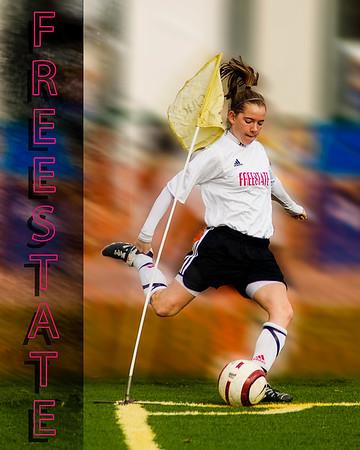 Women's Club Soccer #1 - Stylized Poster