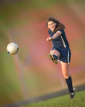 Women's High School Soccer #19,  Stylized
