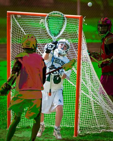 Men's High School Lacrosse #2, Stylized