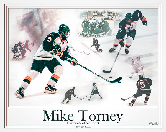 Vermont Hockey - Mike Torney Montage Poster