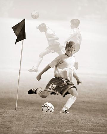 Boy's Club Soccer - Player Montage #1, Monochrome
