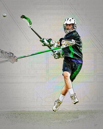 Men's High School Lacrosse #1, Stylized
