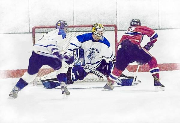Men's High School Club Hockey #2, Stylized