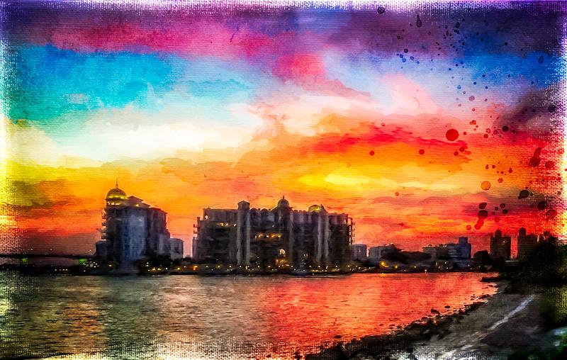 Painterly Sunset