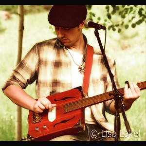 BEST OF COLORADO MUSIC. A.J. Fullerton making beautiful music at The Well at Bradford Junction in Conifer.