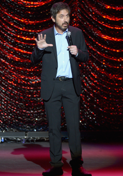 Ray Romano kicks off the night of comedy and music at LA's Wilshire Ebell Theatre on Saturday, November 5, 2016.