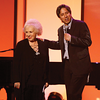 Ray Romano brings ups Doris Roberts to the stage to a welcoming crowd, 2007.