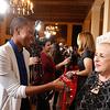 Doris Roberts greets the press, 2014.